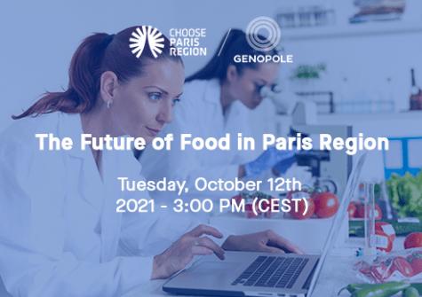 Webinar The Futur of Foos in Paris Region - CPR / Genopole